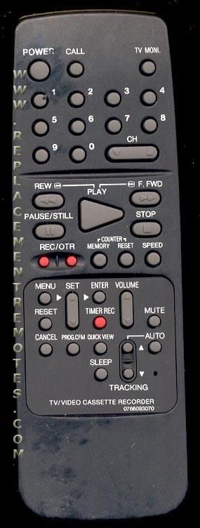 Buy ORION 0766093070 TV/VCR Combo Remote Control