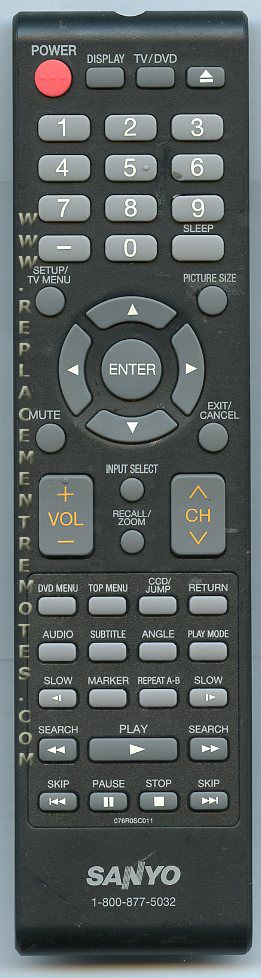 Remote Control for Sanyo TV DVD - Original Unit - New - See Before