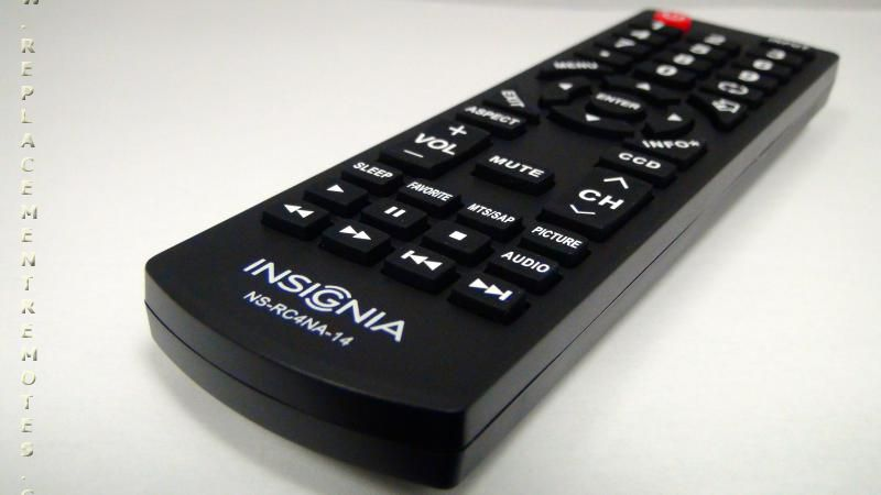 Insignia remote replacement