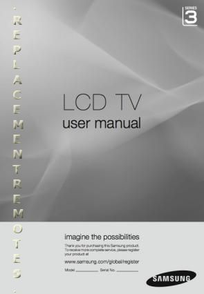 User manual samsung 6 series