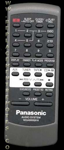 panasonic remote control instructions