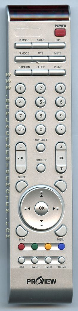 PROVIEW Replacement Remote Control for 3200