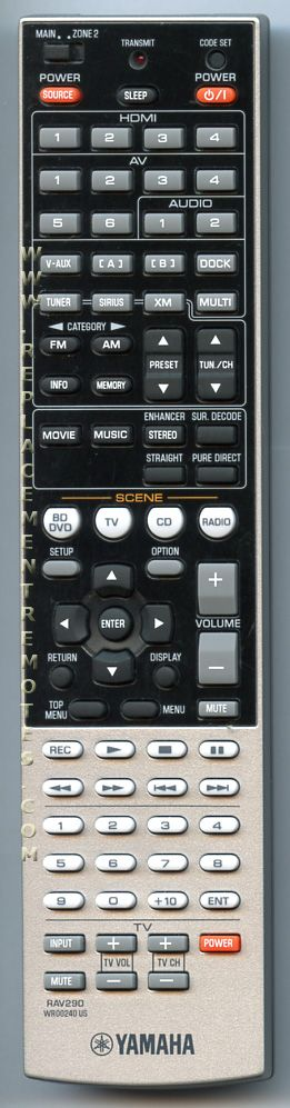 Yamaha Receiver Remote Code List