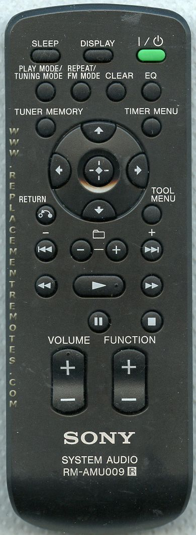 sony system audio rm amu009 manual
