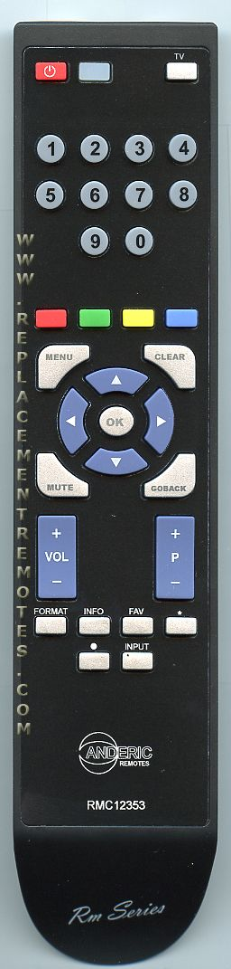 Buy ANDERIC RC246 RMC12353 RCA -RMC12353 TV Remote Control