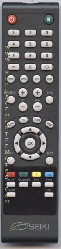 Seiki TV Remote Control