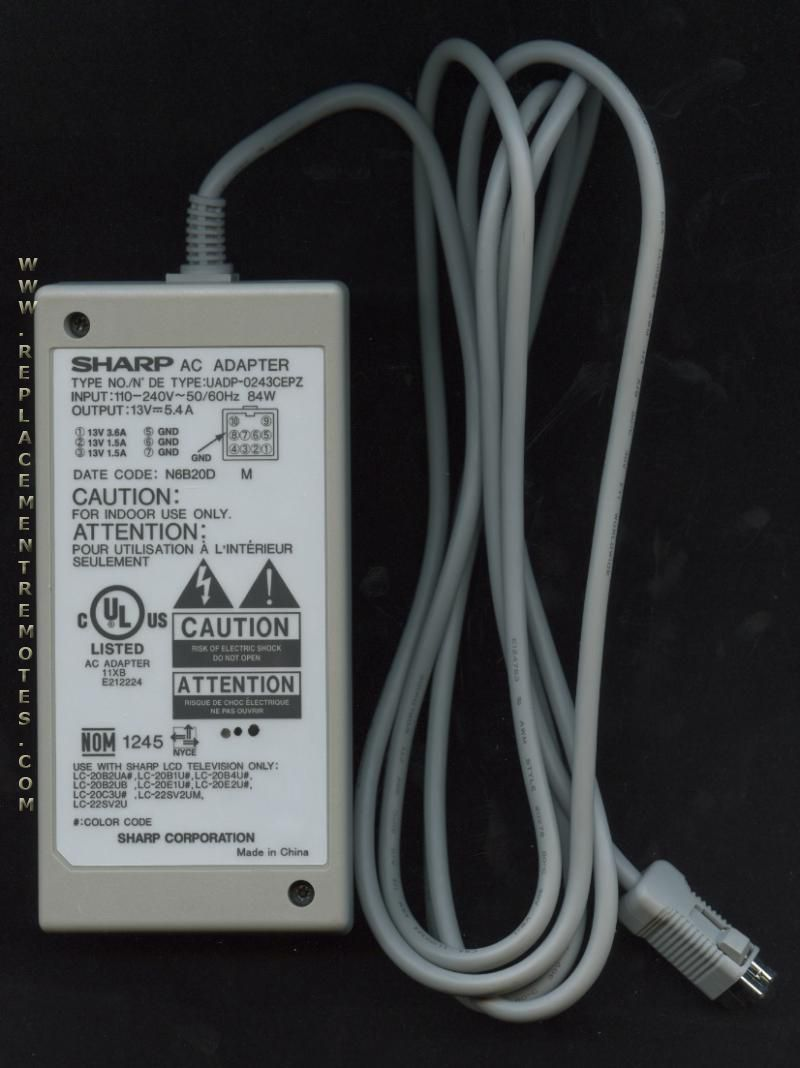 Ac Parts Store >> Buy SHARP UADP0243CEPZ AC Power Cord