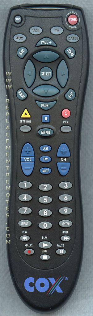Cox Contour Remote Codes