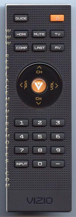 Replacement remote for vizio