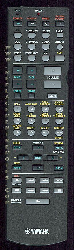 Buy Yamaha Rav244  Video Receiver Remote