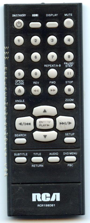 Rca dvd player remote