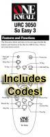URC3050 & Codes