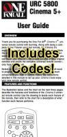 URC5800 & Codes/URC5800OM