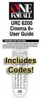 URC6200 & Codes/URC6200OM