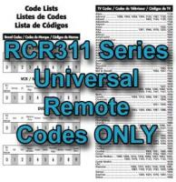 RCR311 Series Codes OnlyOM