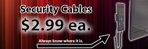 security cable for remote controls