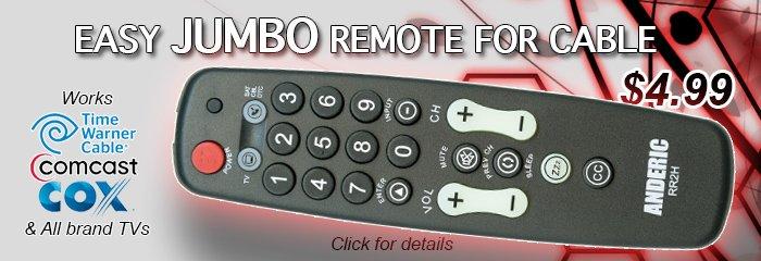 RR2H jumbo remotes