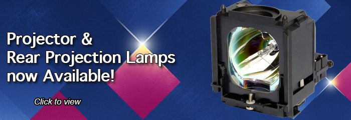Projector lamps now available!