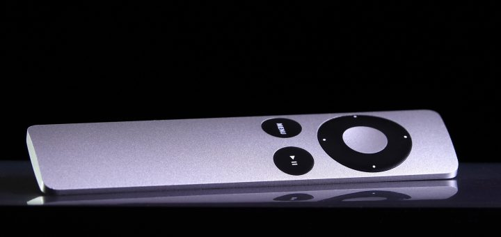 Apple TV remora with selective focus on black