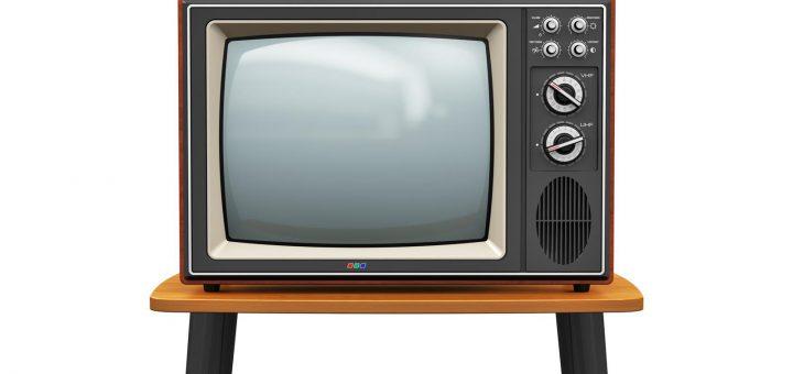 old retro wooden tv receiver
