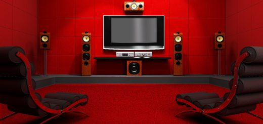 red room with home cinema