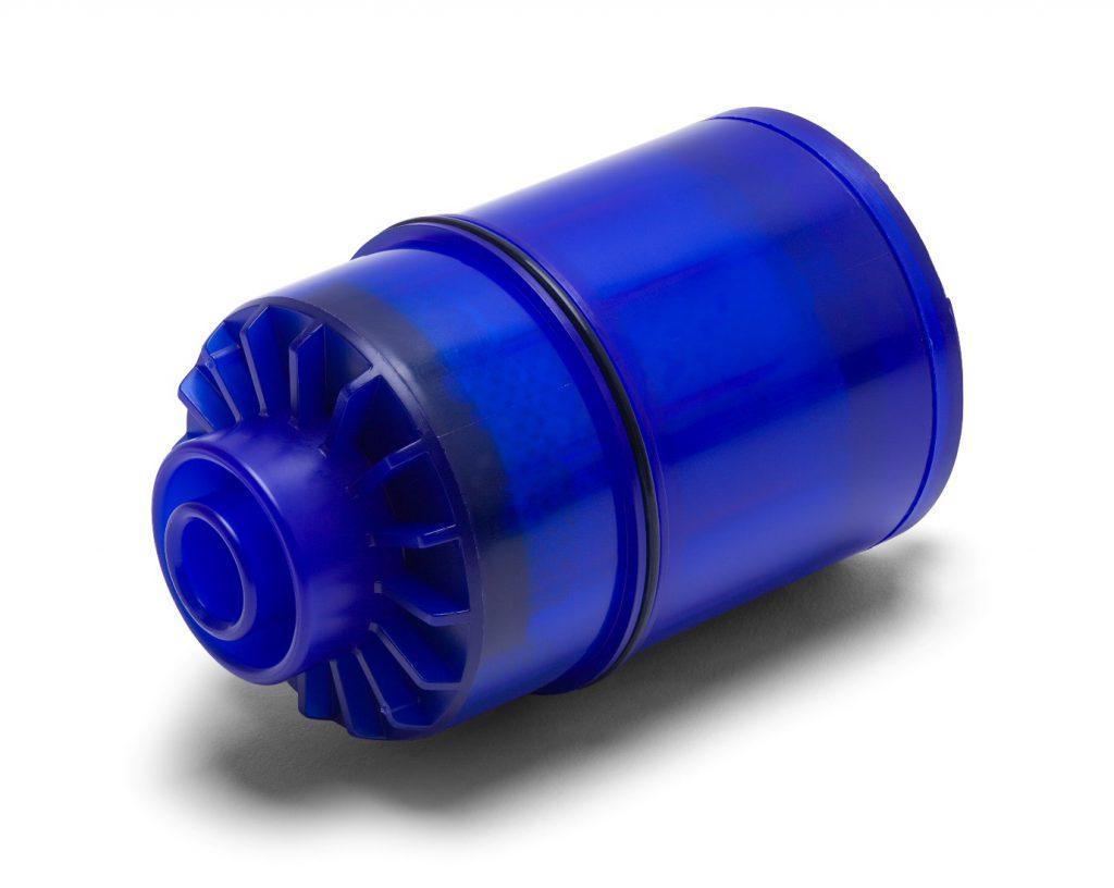 Blue water filter cartridge