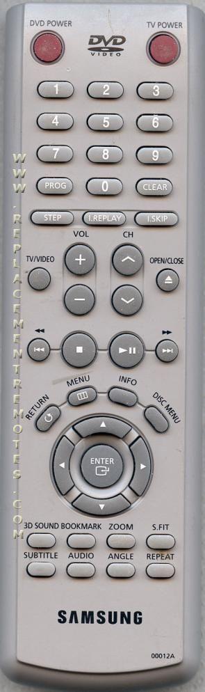 SAMSUNG 00012A DVD Player Remote Control