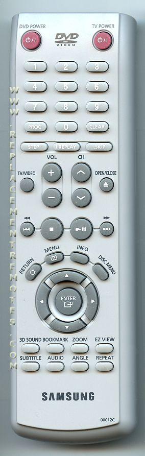 SAMSUNG 00012C DVD Player Remote Control