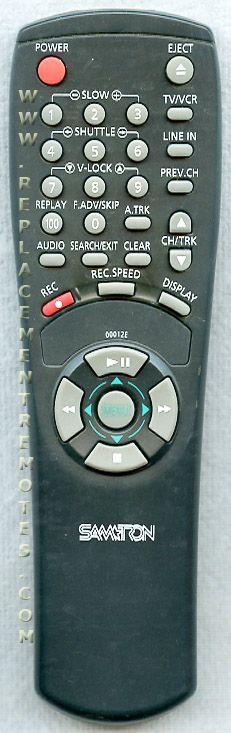 SAMTRON 00012E VCR Remote Control