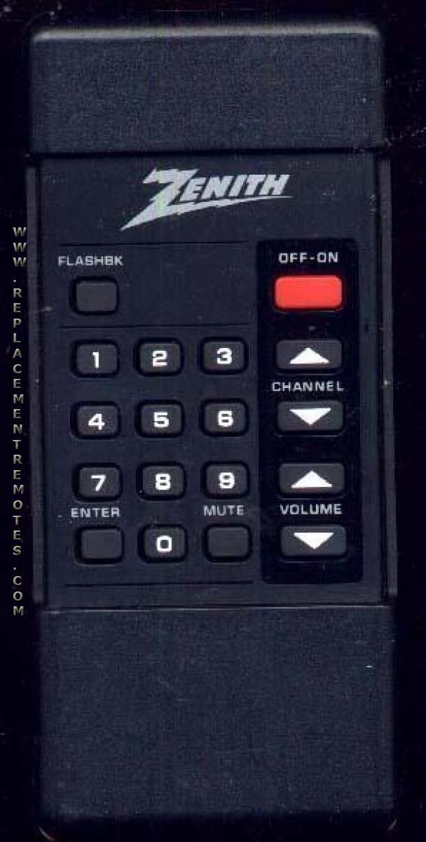 ZENITH 12412840 Remote Control