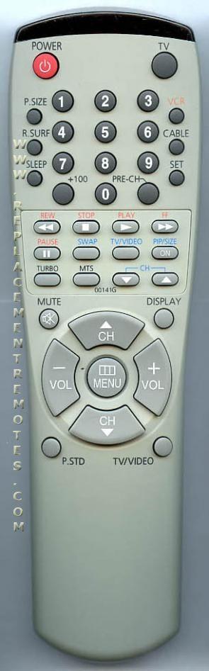 CURTIS MATHES 00141G TV Remote Control