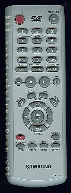 SAMSUNG 00021B DVD Player Remote Control