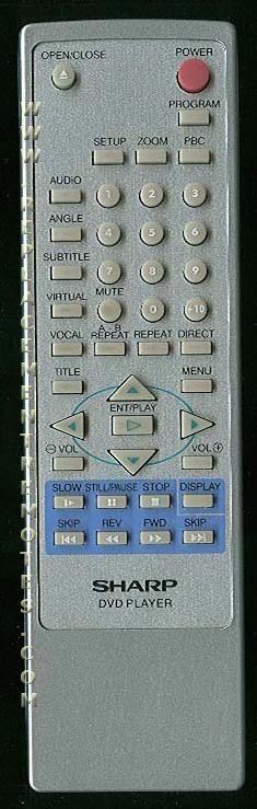SHARP 9HL740U DVD Player Remote Control