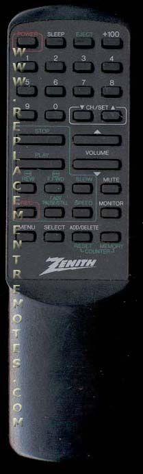ZENITH 0218 Remote Control