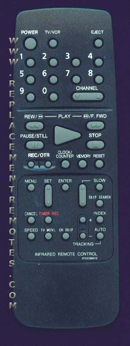 EMERSON 0766099010 VCR Remote Control