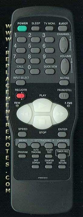 ORION 076R0CG020 VCR Remote Control