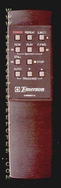EMERSON 076B082010 Remote Control