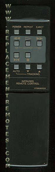 EMERSON 076B082020 VCR Remote Control