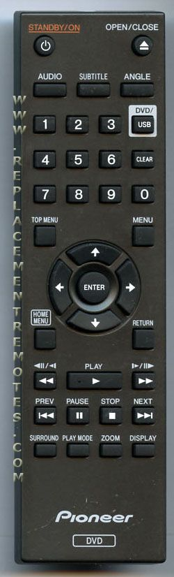 PIONEER 076E0PP011 DVD Player Remote Control