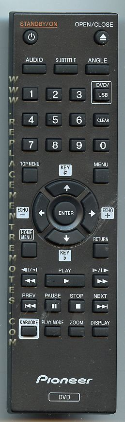 PIONEER 076E0PP161 DVD Player Remote Control