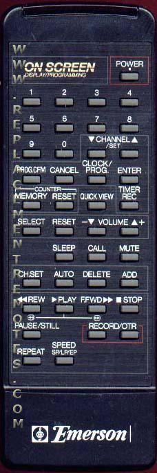 Buy EMERSON 076G01501C TV/VCR Combo Remote Control