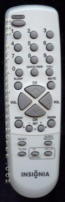 INSIGNIA 076N0DW180 TV Remote Control
