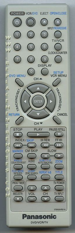 Panasonic 076N0HR01A DVD/VCR Combo Player Remote Control