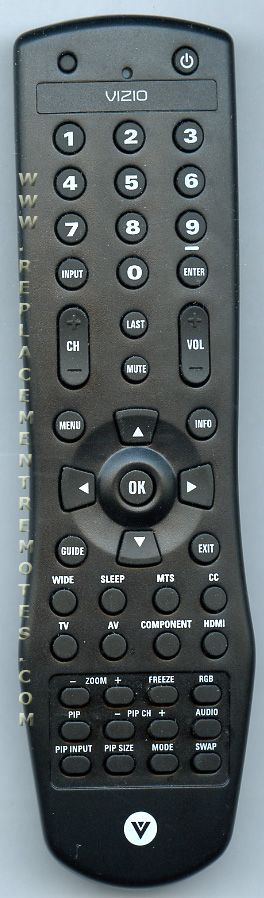 VIZIO 098TRABD1NEVZU TV Remote Control