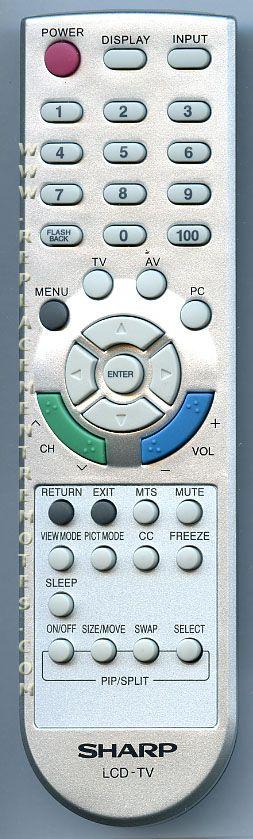 SHARP 0LTLP30010002 Remote Control