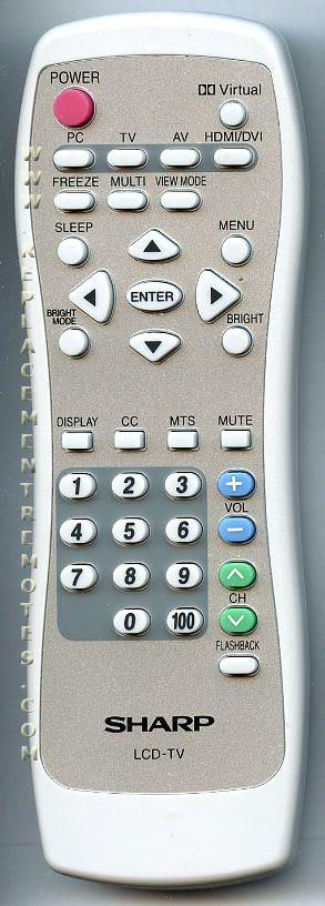 SHARP 0LTLP30042003 Remote Control