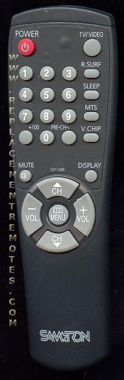 SAMTRON 10110R TV Remote Control