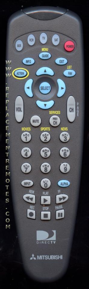 MITSUBISHI 10287190001 Remote Control