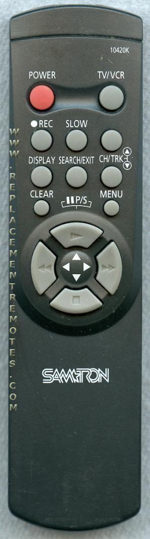 SAMTRON 10420K VCR Remote Control
