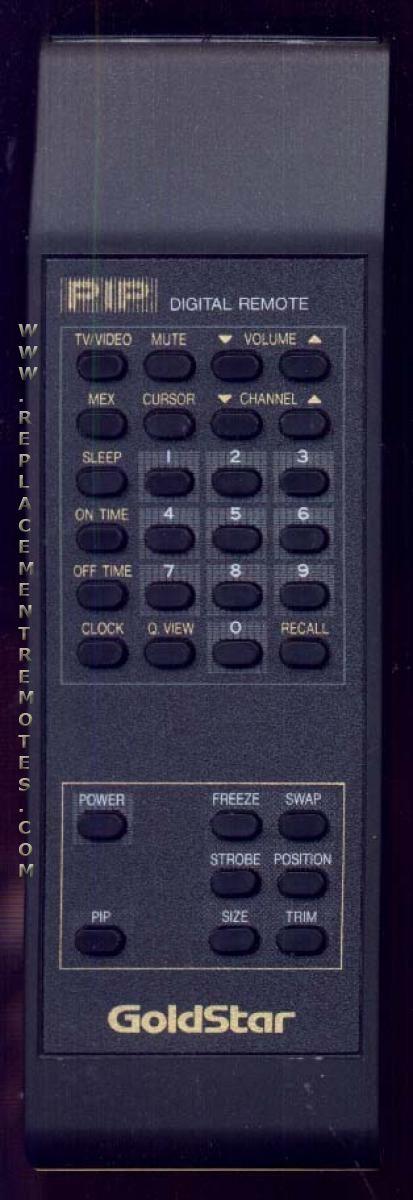 GOLDSTAR 105527B Remote Control